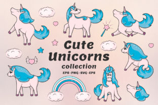 Hand Drawn Cute Unicorns Collection Graphic By Kirill's Workshop