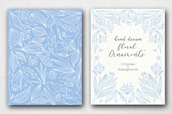 Print on Demand: Hand Drawn Floral Ornaments Graphic Graphic Templates By Margarita Dyakovich