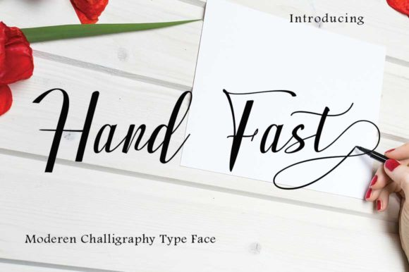 Print on Demand: Hand Fast Script & Handwritten Font By parawtype