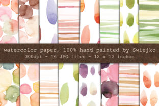 Hand Painted Watercolor Backgrounds Graphic By swiejko