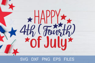 Download Free Happy 4th Of July Svg Graphic By Graphicsqueen Creative Fabrica for Cricut Explore, Silhouette and other cutting machines.