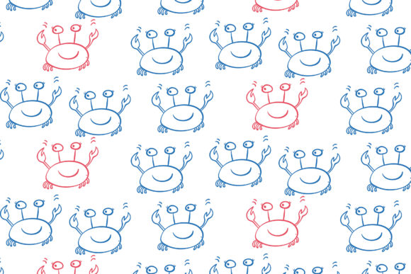 Happy Crabs Graphic Patterns By co_lorenzo