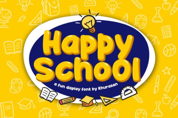 Print on Demand: Happy School Display Font By Khurasan