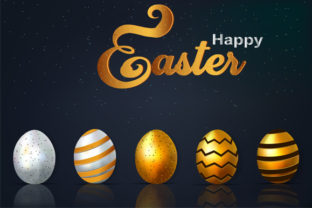 Happy-easter-lettering-background Graphic By imammuslim835