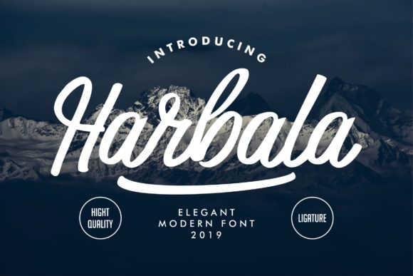 Print on Demand: Harbala Script & Handwritten Font By Vunira