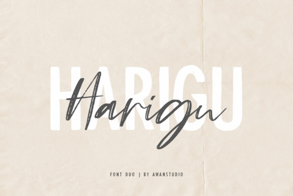 Print on Demand: Harigu Duo Script & Handwritten Font By Awanstudio - Image 1