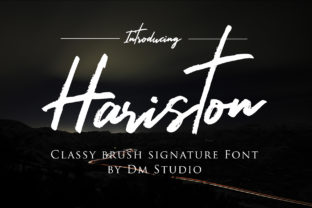 Hariston Font By dmletter31