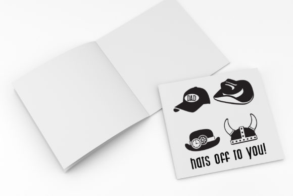 Print on Demand: Hats off to Dad Dingbats Font By Illustration Ink - Image 2