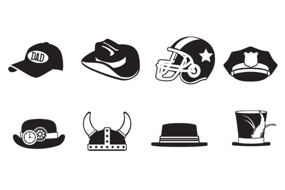Print on Demand: Hats off to Dad Dingbats Font By Illustration Ink - Image 4