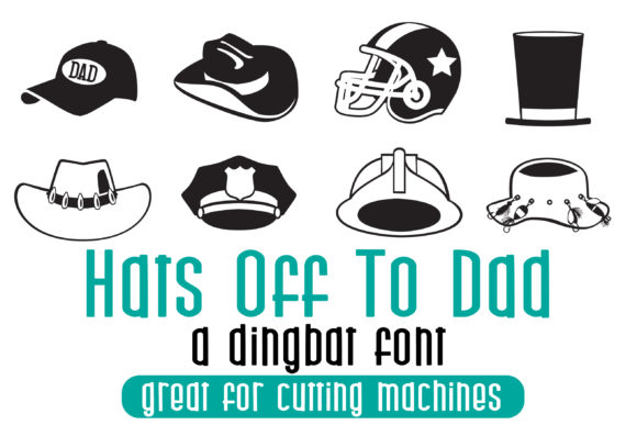 Print on Demand: Hats off to Dad Dingbats Font By Illustration Ink