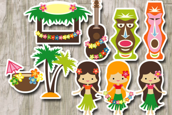 Download Free Hawaii Tropical Party Graphic By Revidevi Creative Fabrica for Cricut Explore, Silhouette and other cutting machines.