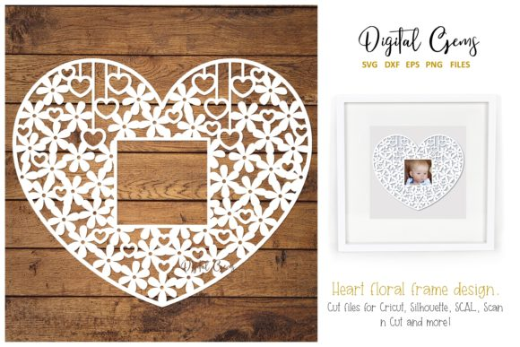 Download Free Heart Papercut Design Graphic By Digital Gems Creative Fabrica for Cricut Explore, Silhouette and other cutting machines.