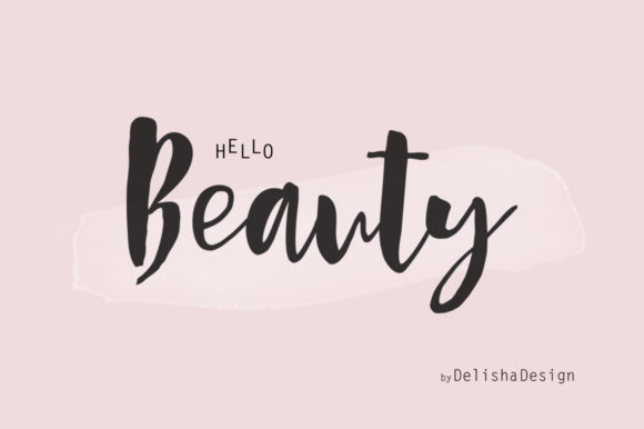 Print on Demand: Hello Beauty Script & Handwritten Font By delishadesign.font