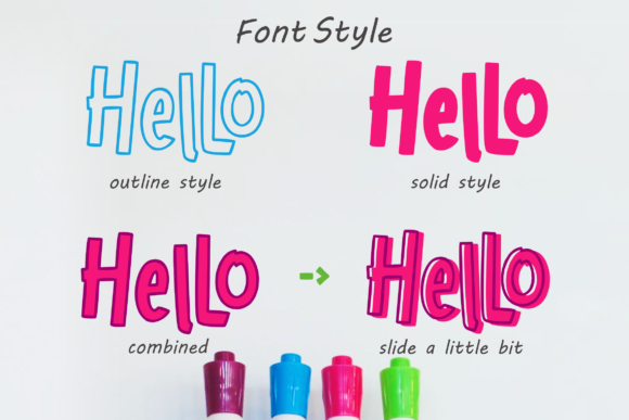 Print on Demand: Hello Freeday Display Font By glyphstyle - Image 2