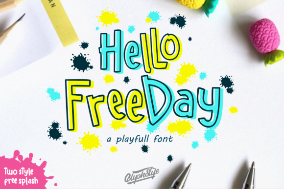Print on Demand: Hello Freeday Display Font By glyphstyle - Image 1