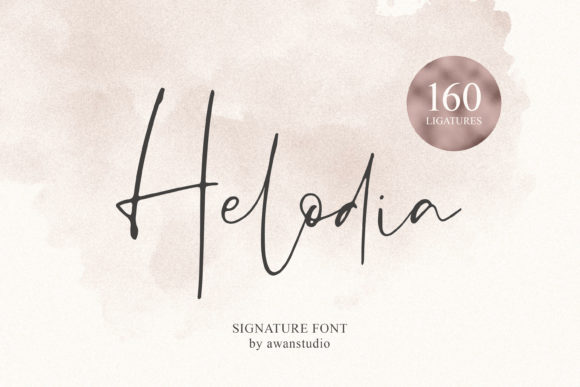 Print on Demand: Helodia Manuscrita Fuente Por Awanstudio