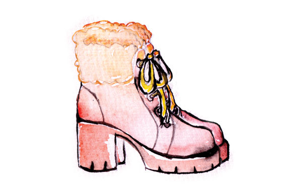 High Heeled Watercolor Womans Shoes Beauty & Fashion Craft Cut File By Creative Fabrica Crafts