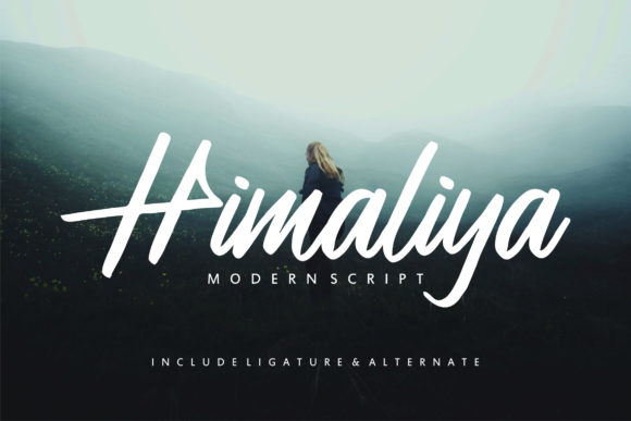 Print on Demand: Himaliya Script & Handwritten Font By Vunira