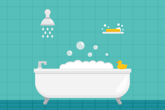 Print on Demand: Home Bathroom Clip Art Set Graphic Illustrations By Running With Foxes - Image 4
