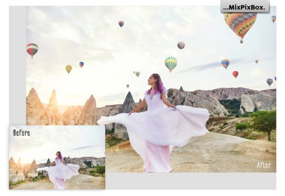 Print on Demand: Hot Air Balloon Overlays Graphic Layer Styles By MixPixBox - Image 2