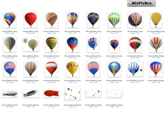 Print on Demand: Hot Air Balloon Overlays Graphic Layer Styles By MixPixBox - Image 4