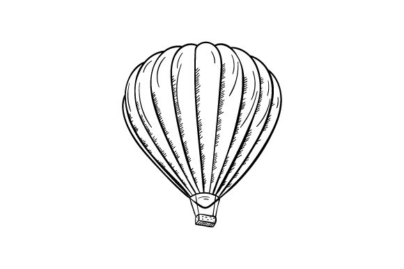 Download Free Hot Air Balloon Line Art Svg Cut File By Creative Fabrica Crafts for Cricut Explore, Silhouette and other cutting machines.