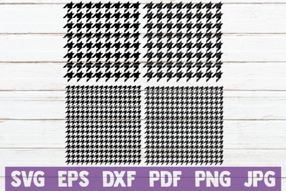 Houndstooth Pattern SVG Cut Files Graphic Graphic Templates By MintyMarshmallows