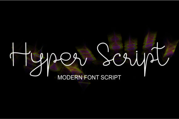 Print on Demand: Hyper Script Script & Handwritten Font By tsa.creativestudio