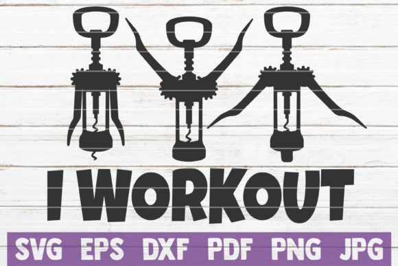 I Workout SVG Cut File Graphic Graphic Templates By MintyMarshmallows