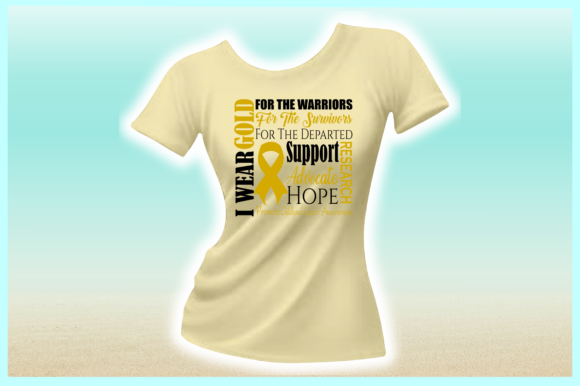 Download Free I Wear Gold Childhood Cancer Graphic By Harbor Grace Designs SVG Cut Files