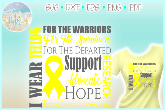Print on Demand: I  Wear Yellow Sarcoma Cancer Graphic Crafts By SVGcraze