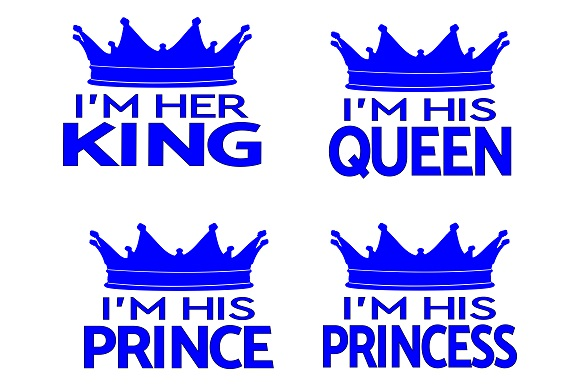 Download Free I M His Queen And I M Her King Graphic By Family Creations for Cricut Explore, Silhouette and other cutting machines.