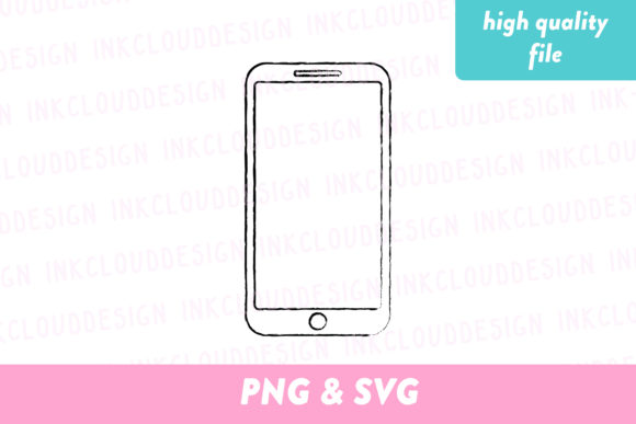 IPhone Clip Art Graphic By Inkclouddesign