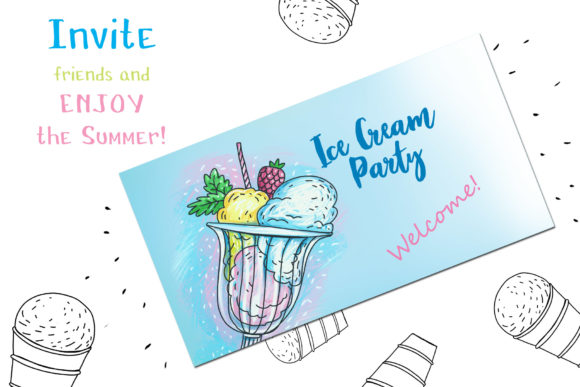 Print on Demand: Ice Cream - 6 Hand-crafted Illustrations Graphic Illustrations By Zooza Art - Image 6