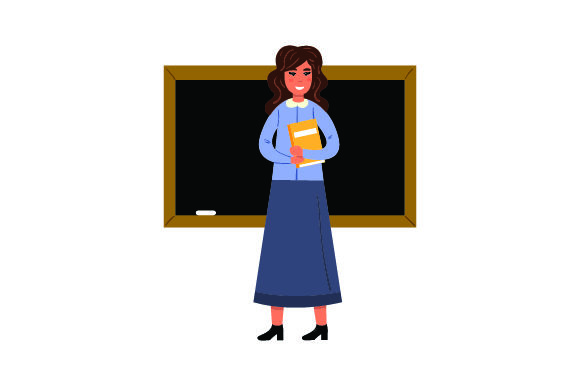Download Free Illustration Of Female Teacher Svg Cut File By Creative Fabrica for Cricut Explore, Silhouette and other cutting machines.