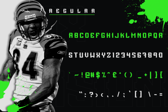 Print on Demand: Incisionax Display Font By ovoz.graphics - Image 3