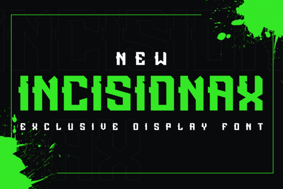 Print on Demand: Incisionax Display Font By ovoz.graphics