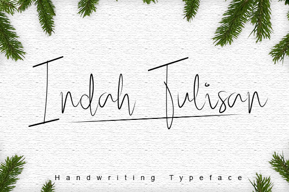 Print on Demand: Indah Tulisan Script & Handwritten Font By damasyp