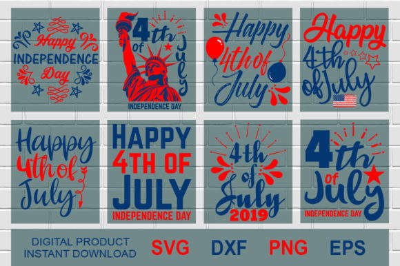 Independence Day 4th July USA Graphic Crafts By Aesthetic studio
