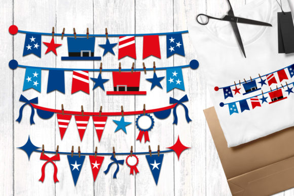 Print on Demand: Independence Day Banners Graphic Illustrations By Revidevi