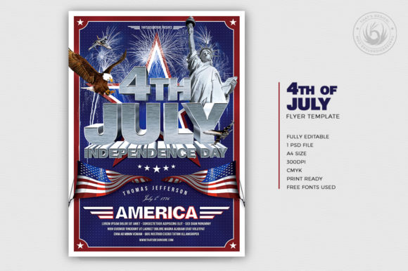 Independence Day Flyer Template V1 Graphic By ThatsDesignStore Image 2