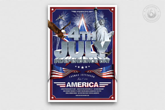 Independence Day Flyer Template V1 Graphic By ThatsDesignStore Image 1