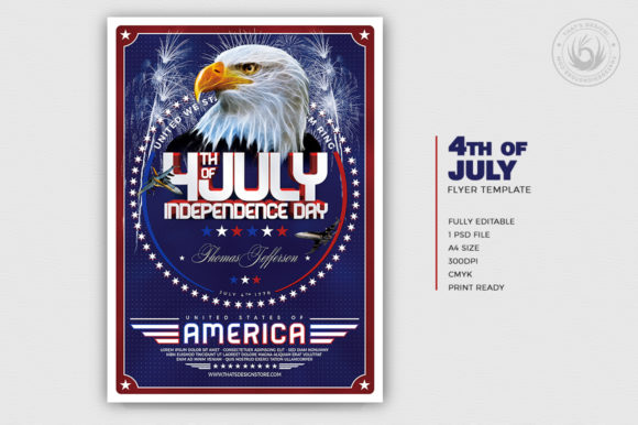 Independence Day Flyer Template V2 Graphic By ThatsDesignStore Image 2