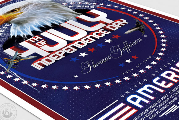 Independence Day Flyer Template V2 Graphic By ThatsDesignStore Image 6