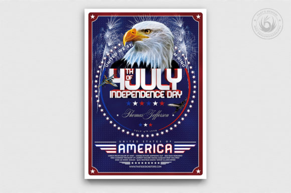 Independence Day Flyer Template V2 Graphic By ThatsDesignStore Image 1