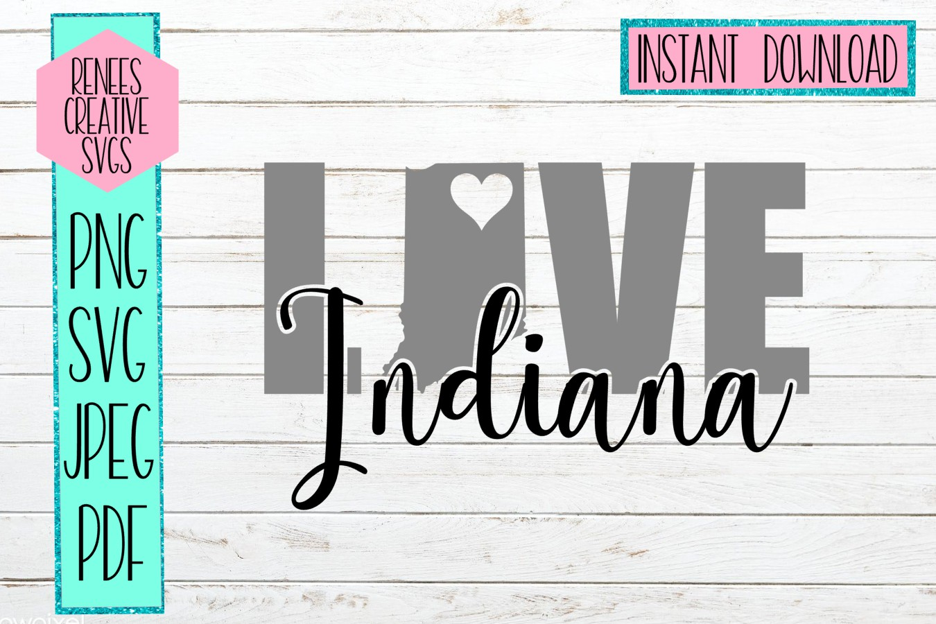 Indiana Love Cutting File Graphic By Reneescreativesvgs