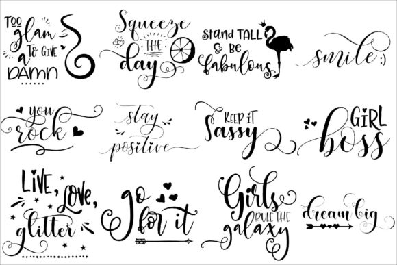 Print on Demand: Inspirational Bundle Cut Files Graphic Crafts By Fantasy SVG - Image 2