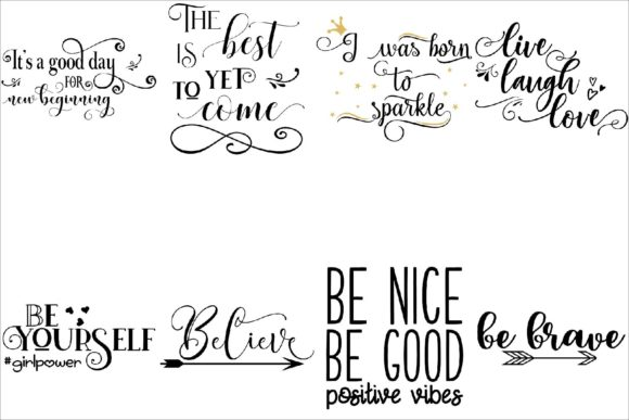 Print on Demand: Inspirational Bundle Cut Files Graphic Crafts By Fantasy SVG - Image 3