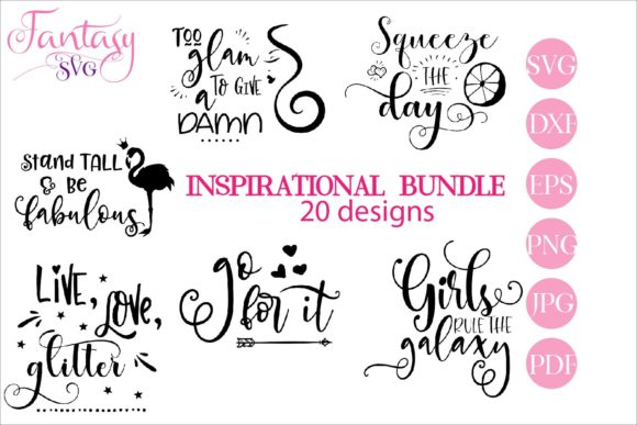 Print on Demand: Inspirational BUNDLE, Svg Cut Files Graphic Crafts By Fantasy SVG