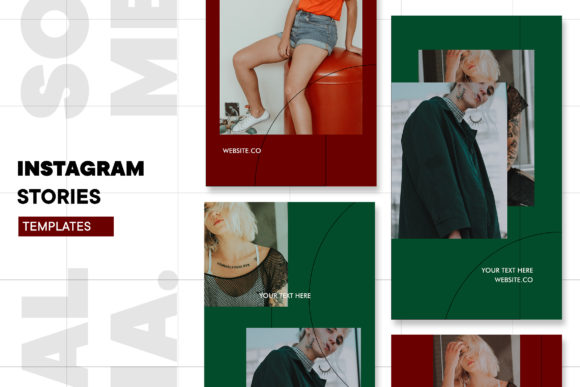 Print on Demand: Instagram Stories Template Graphic Graphic Templates By ovoz.graphics